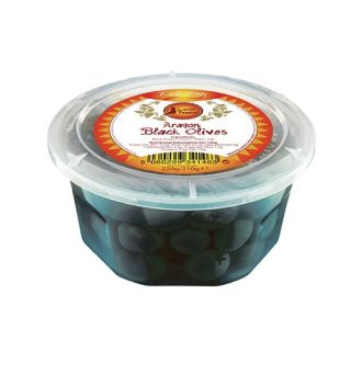 Spanish Aragon Black Olives