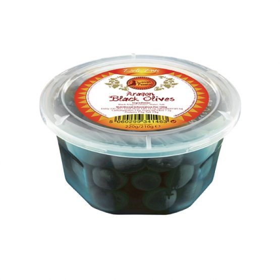 Spanish Aragon Black Olives