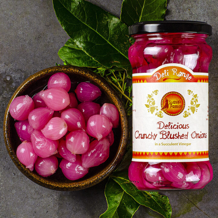 Pickled Blushed Onions