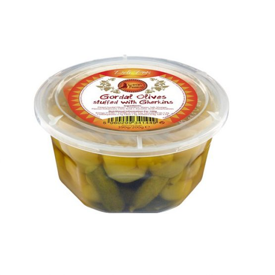 Gordal Olives stuffed with Gherkins