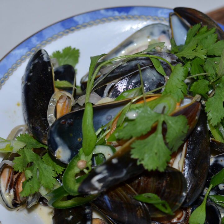Canary Islands Green Mojo Sauce Mussels