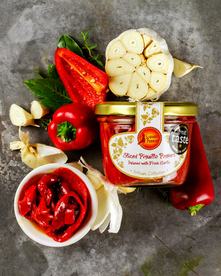 Piquillo Peppers With Garlic Infused Olive Oil (200g)