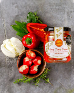 Spicy Cherry Peppers with Cream cheese