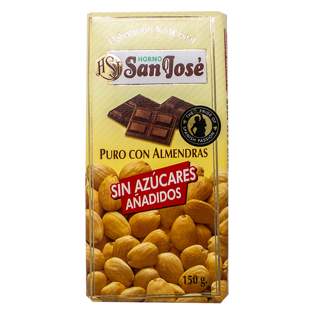 Horno San José Pure Chocolate With Almonds No Added Sugar
