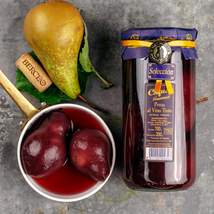 Whole Spanish Pears in Red Wine