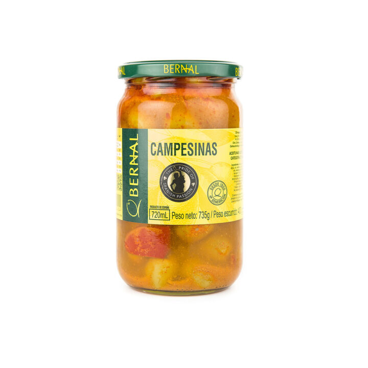 Pitted Green Olives with Herbs and Spices (735g)