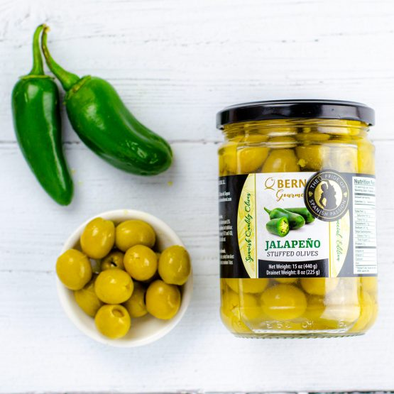 Olives Stuffed with Jalapeno
