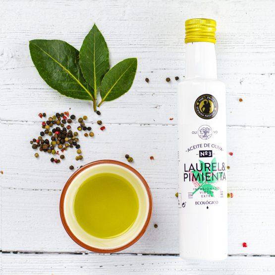 Organic Olive Oil Bay Leaf & Pepper Laurel Pimiento