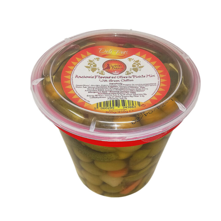 Anchovy olive and pickle mix