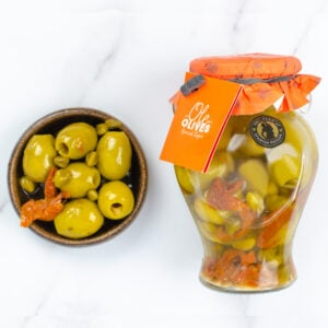 Gordal Olives Stuffed with Sun Dried Tomatoes and Capers (580g)