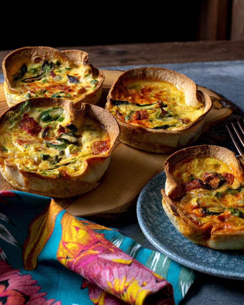 Asparagus and Chorizo Tortilla Tarts