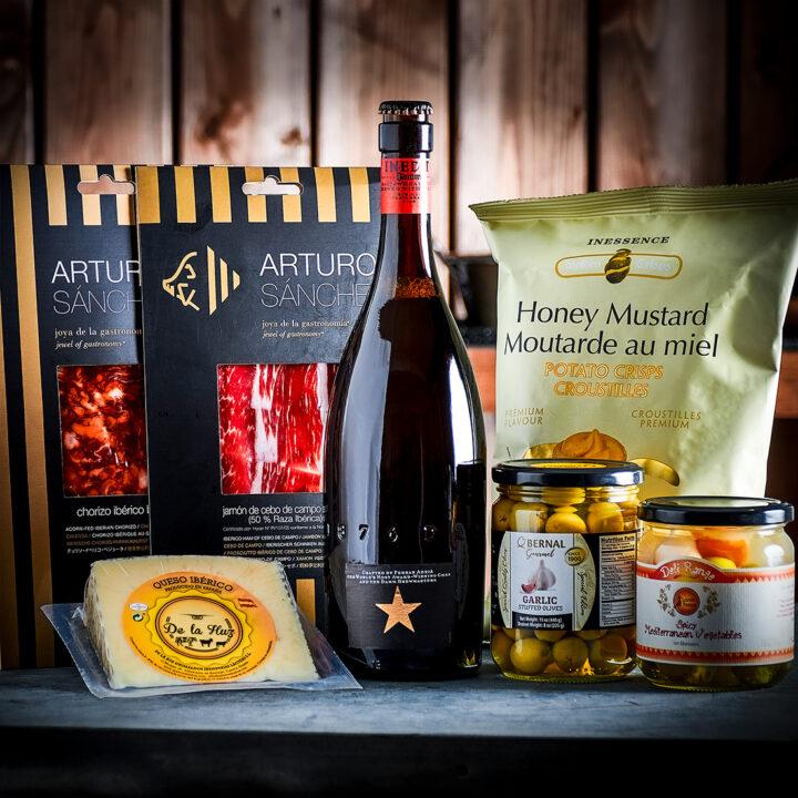 Spanish Charcuterie Cheese Beer Gift Box