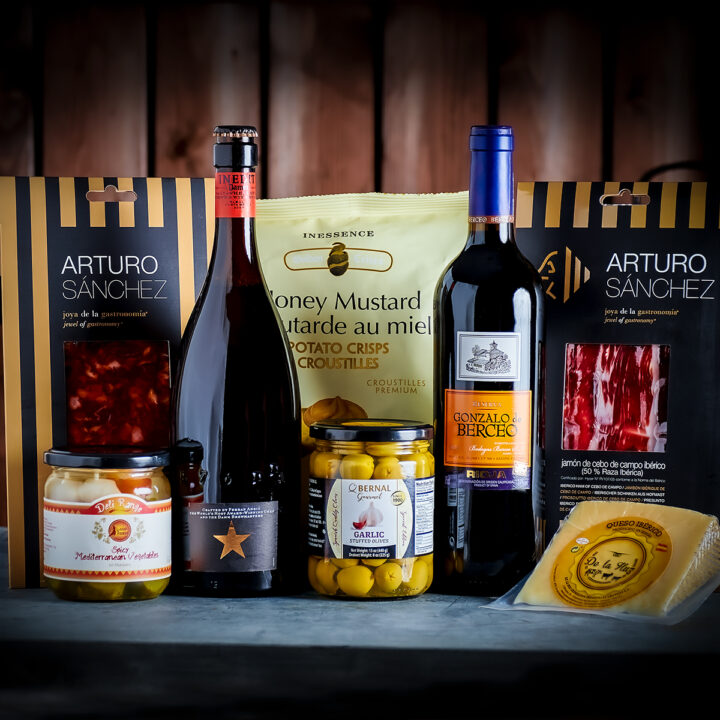 Spanish Charcuterie, Cheese, Wine, Beer & Nibbles Deluxe Gift Box