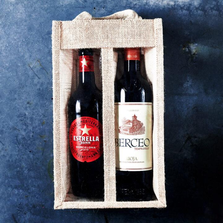 Berr & Wine Gift Jute Box