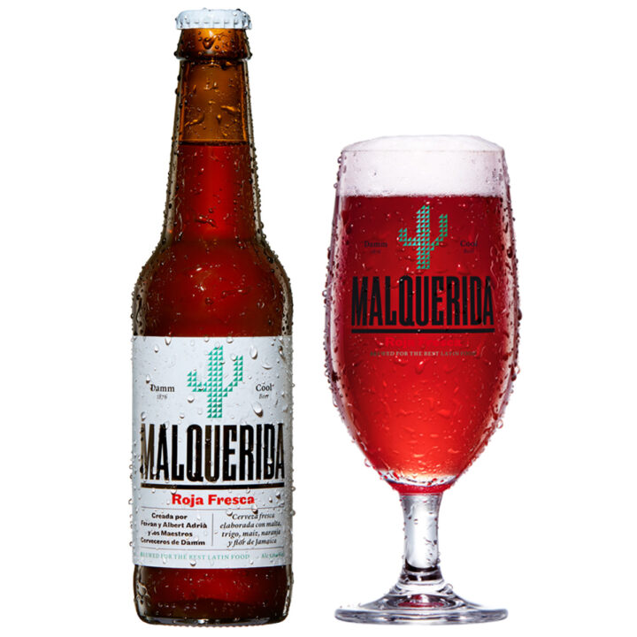 Malquerida Spanish Beer with glass