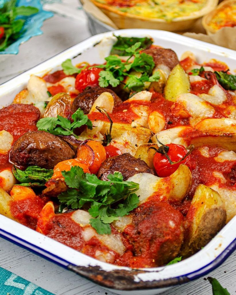 Meatball Tray Bake