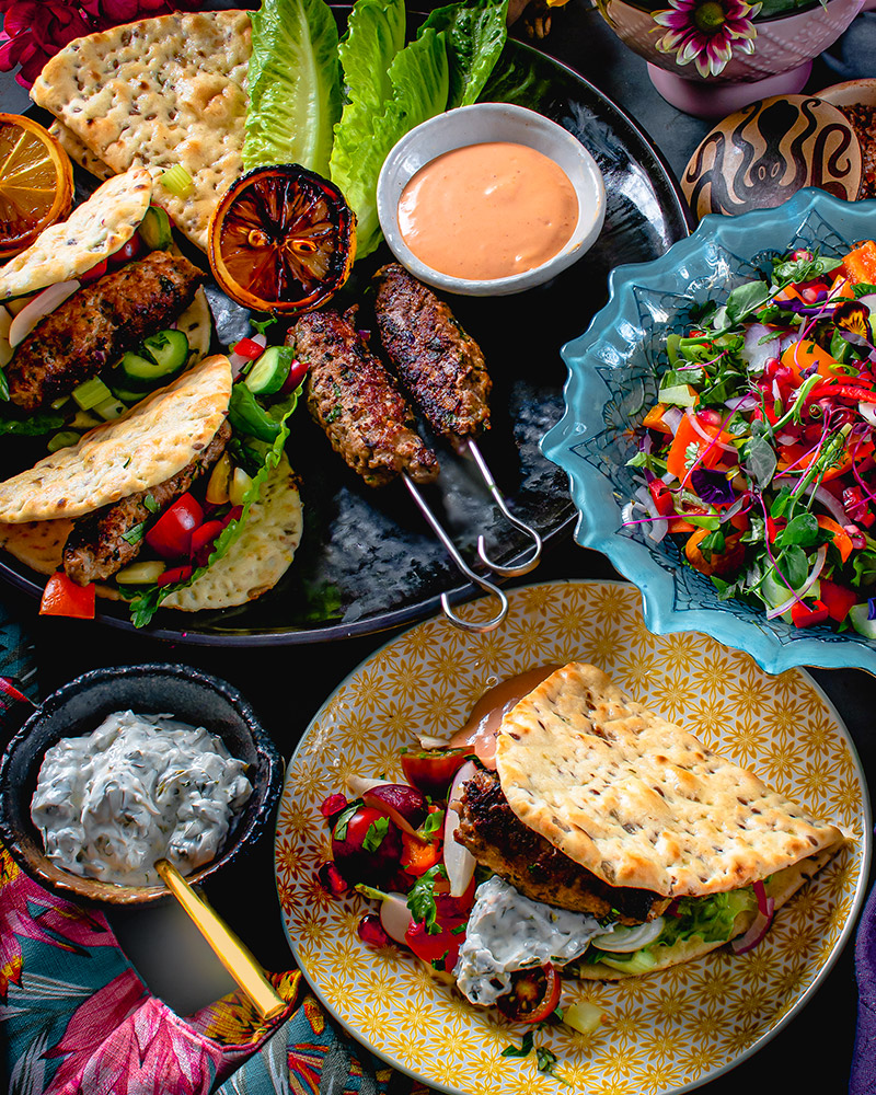 Kofta Style Harrisa Kebabs