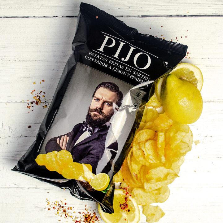 Pijo Lemon and Pepper Crisps